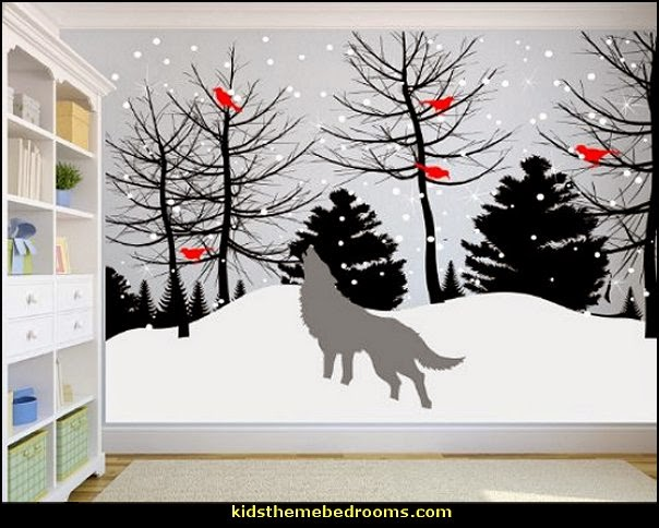 Decorating Theme Bedrooms Maries Manor Tree Murals. SaveEnlarge · Winter Trees Wall Decal ... & Winter Wall Decals - Elitflat