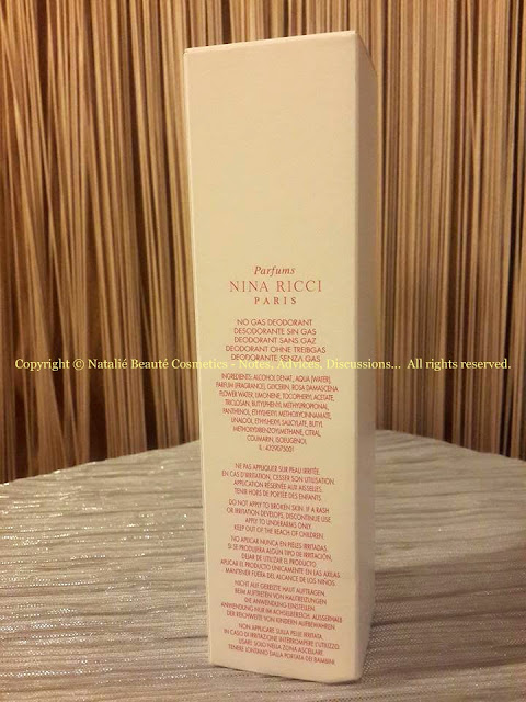 NINA by NINA RICCI FRESH DEODORANT SPRAY PERSONAL PERFUME REVIEW AND PHOTOS NATALIE BEAUTE