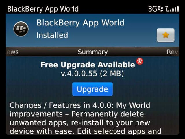 blackberry app world 40055