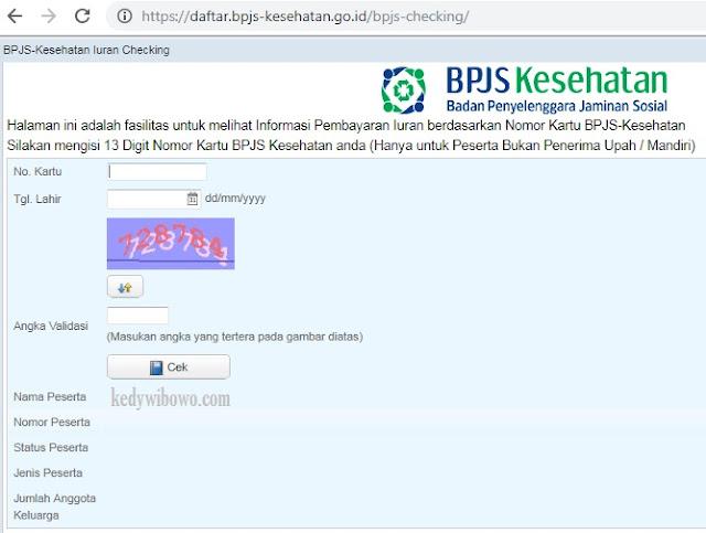 Cara Cek Tagihan BPJS Online