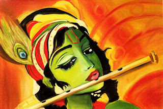 Shri Krishna janmashtami painting