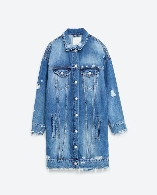 Zara long denim jacket