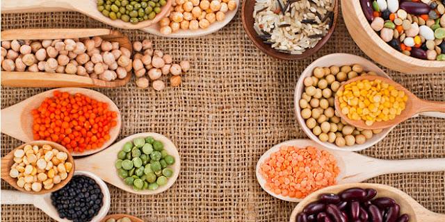 multitud de legumbres de diferentes tipos