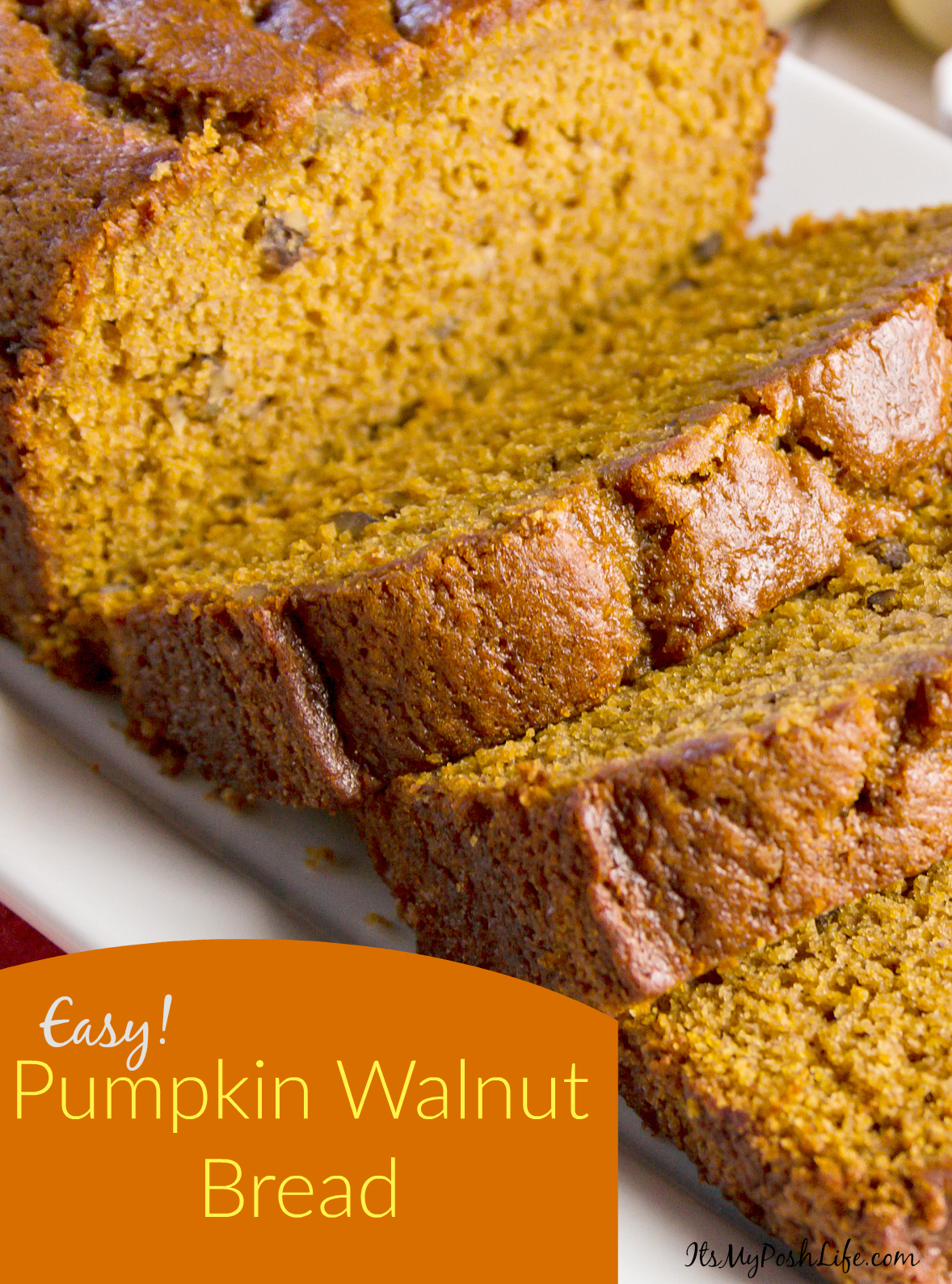 Easy Pumpkin Walnut Bread
