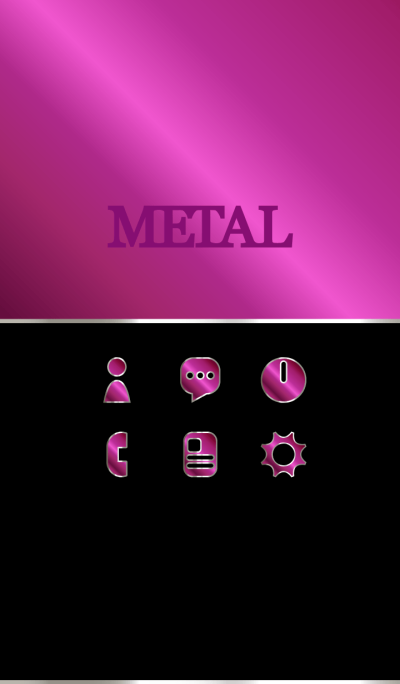 Pink alumite metal Theme WV