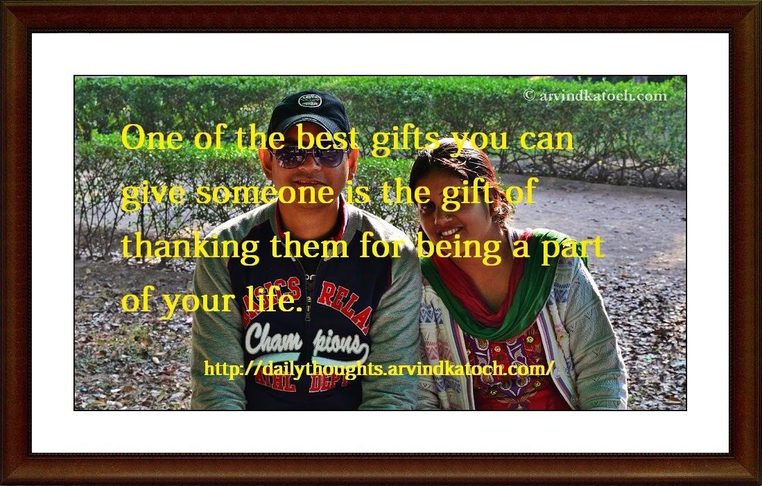 Best Gift, thanking, part, life, daily thought, daily quote, quote,