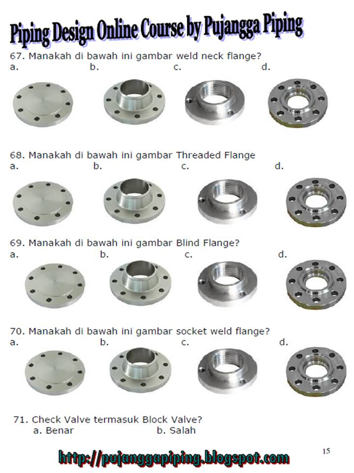PUJANGGA PIPING: QUESTION ABOUT VALVE, FLANGE AND BOLT