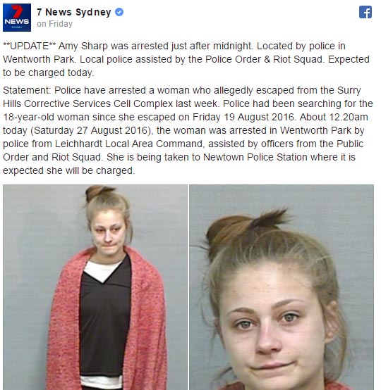Wanted girl facebooks police, asks them to use her better picture for mugshot