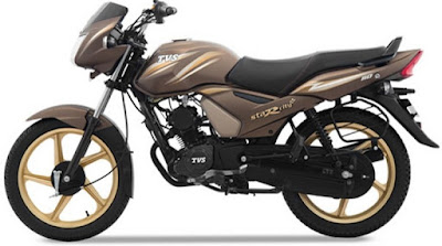 TVS Star City Plus Chocolate Gold Edition side view