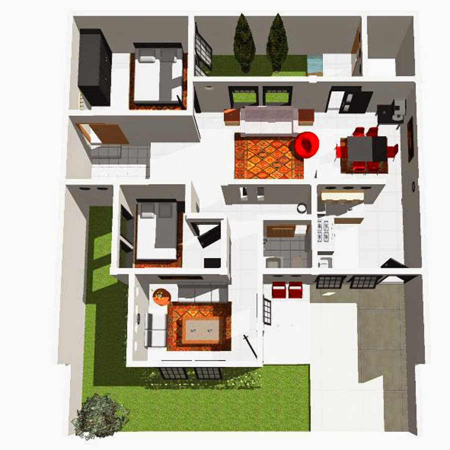 110 Gambar Denah Rumah Minimalis Sederhana Satu Lantai Gambar