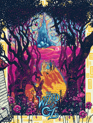 The Wizard of OZ Variant Screen Print by James Eads x Dark Hall Mansion
