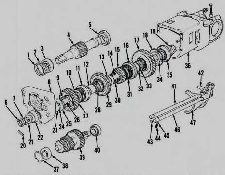Massey ferguson 35 gearbox