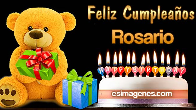 Feliz Cumpleaños Rosario