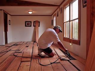 DIY Flooring Installation Tennessee Cabin