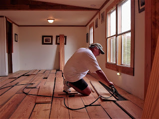 DIY Flooring Installation Tennessee Cabin