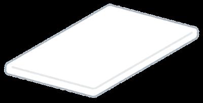 白いテーブルのイラスト(斜め・天板のみ)