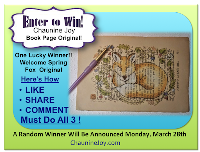 Chaunine Joy Welcome Spring Book Page Original Giveaway