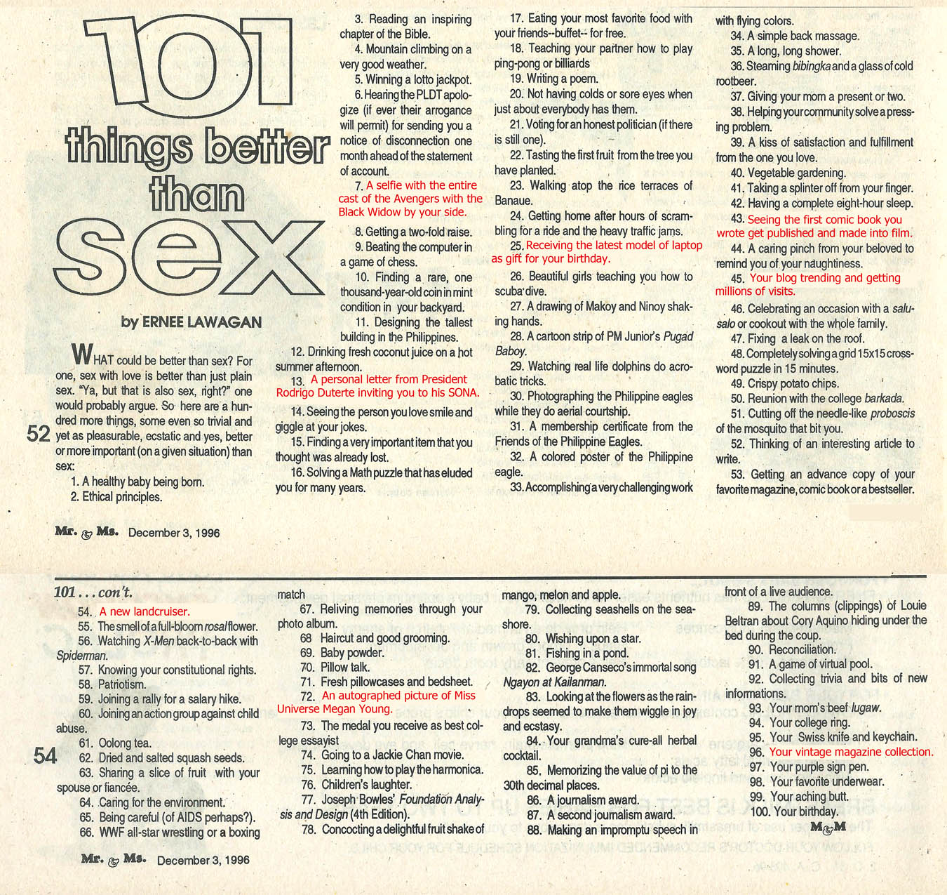 Things that are better than sex