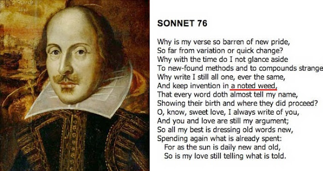 William Shakespeare talks about smoking weeds to find inspiration