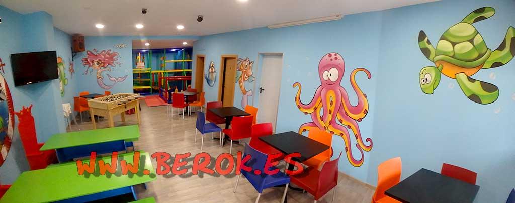 Berok graffiti mural profesional en barcelona castellbell - Murales infantiles ...