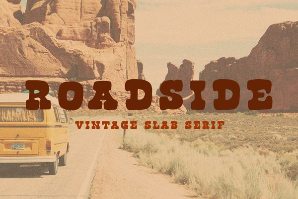 Roadside Vintage Slab Serif Font
