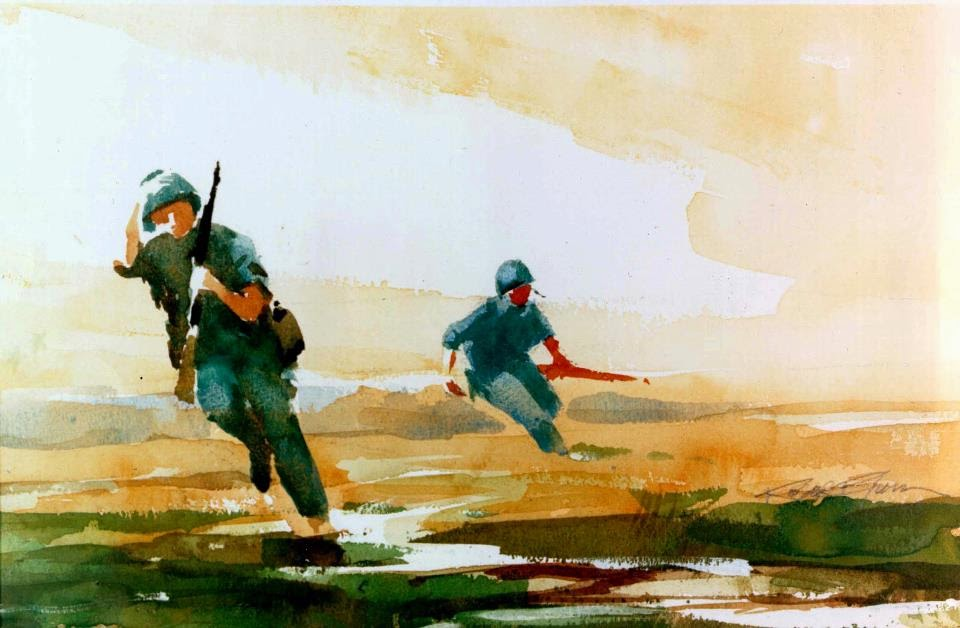 Infantry Soldiers by Roger Blum