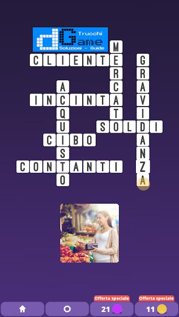 Soluzioni One Clue Crossword livello 22 schemi 4 (Cruciverba illustrato)  | Parole e foto