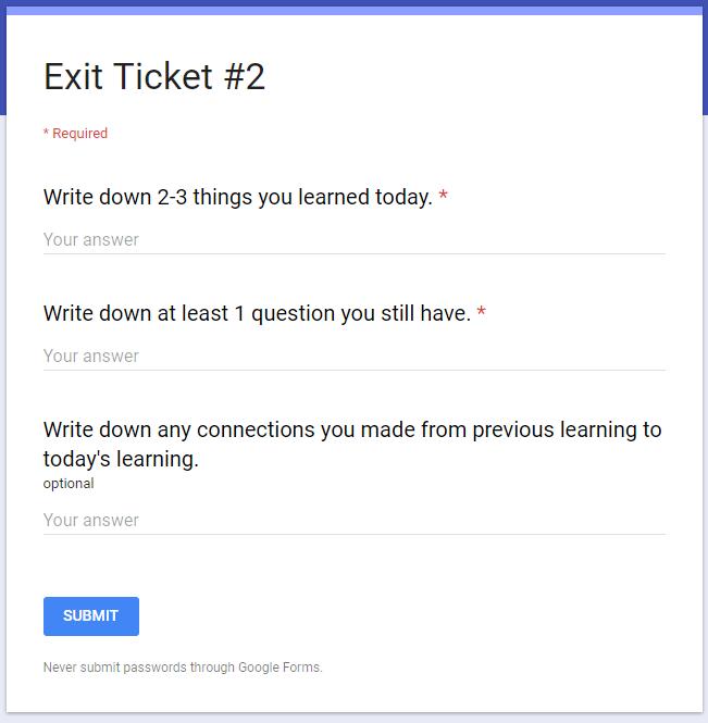 EdTech Nut - Kelly Fitzgerald: Exit Tickets