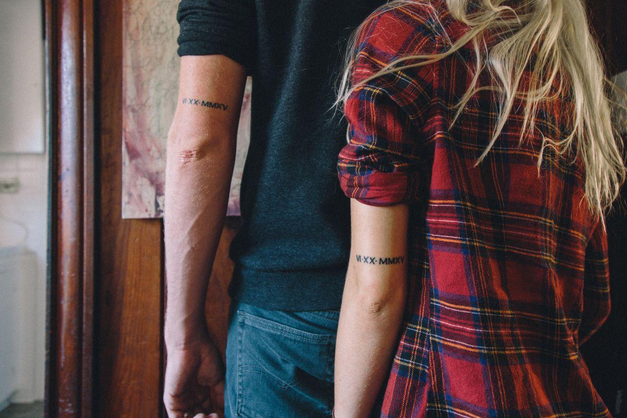 roman numeral number tattoos