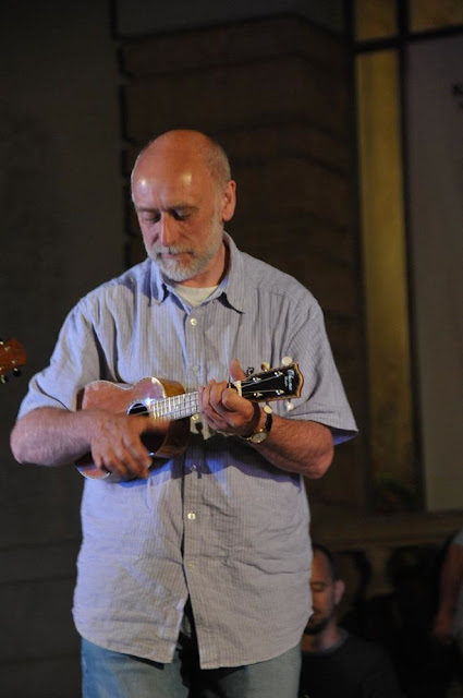 Ken Middleton with ukulele