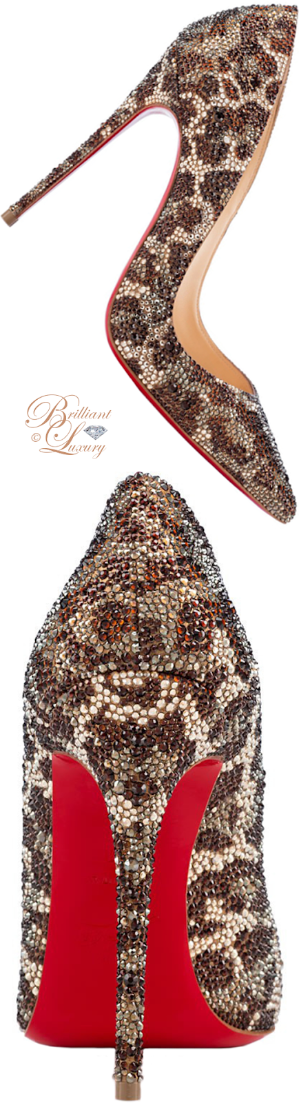 Brilliant Luxury ♦ Christian Louboutin So Kate Strass pump