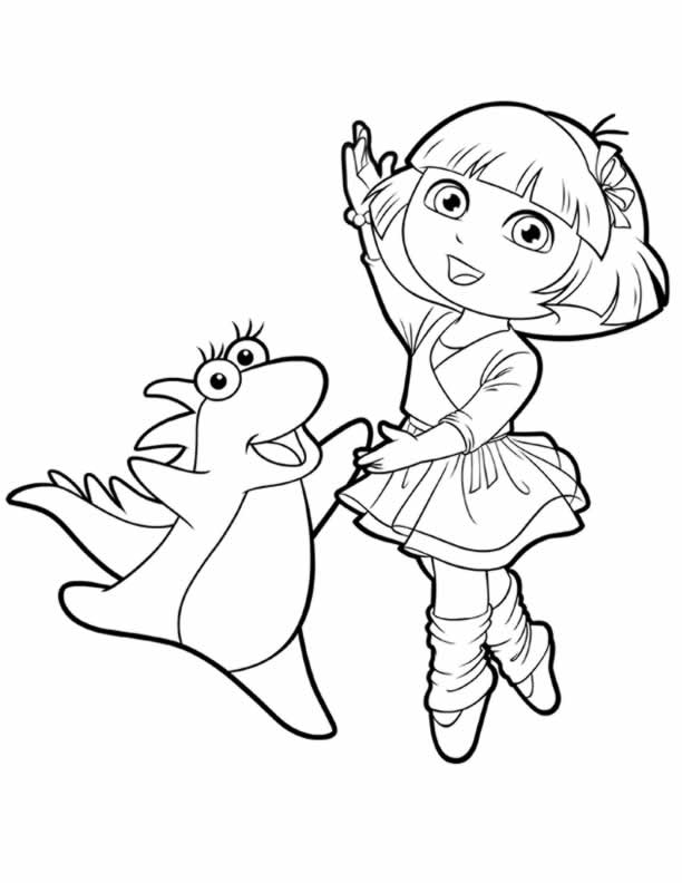 Issa The Iguana Dora Explorer Coloring Page