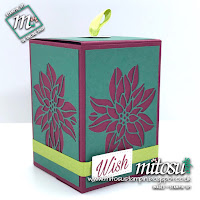Stampin' Up! Detailed Poinsettia Gift Box Idea. Order craft materials from Mitosu Crafts UK online shop