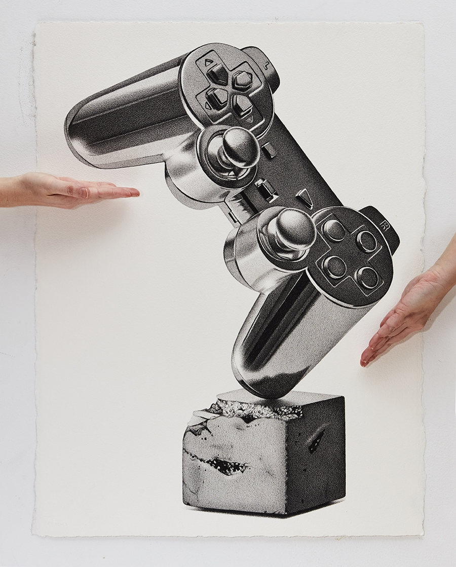 02-Joystick-CJ-Hendry-Bronzed-Trophy-Series-Drawings-that-look-like-Photographs-www-designstack-co
