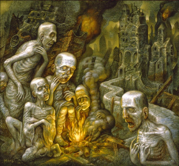 Chris Mars, Macabre Art, Macabre Paintings, Horror Paintings, Freak Art, Freak Paintings, Horror Picture, Terror Pictures