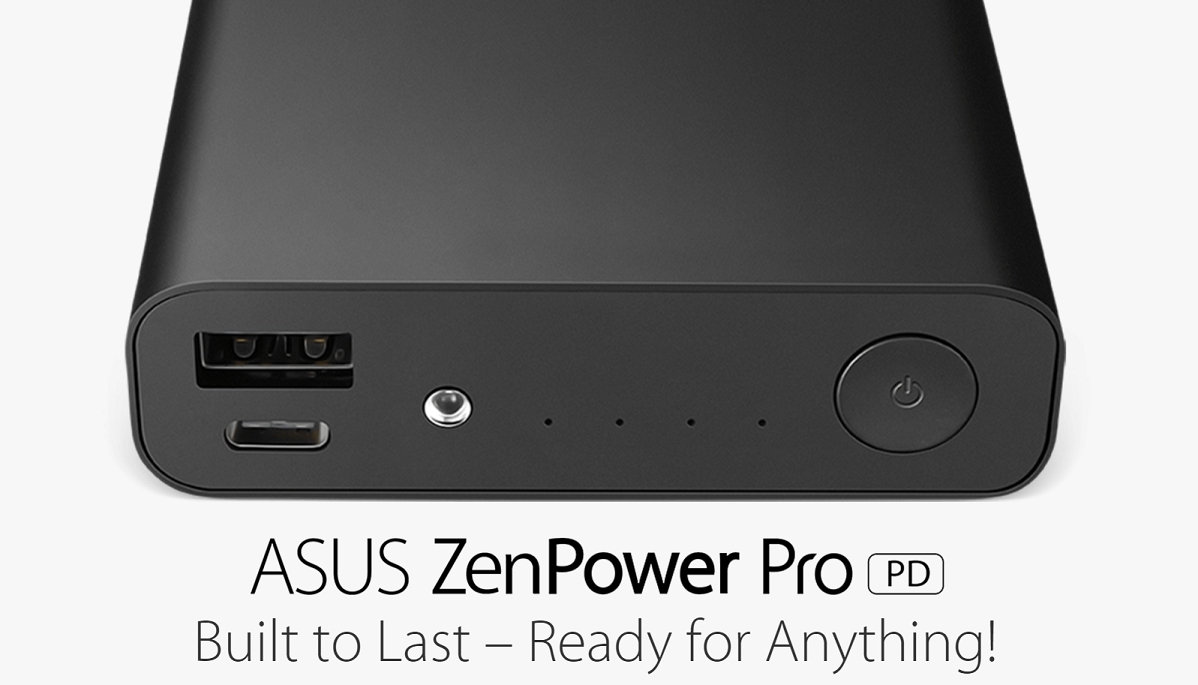 The ASUS ZenPower Pro (PD) is a Power Bank That Charges Your Laptop As Well