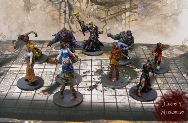 Imagen de una horda de zombies del juego Zombicide Black Plague