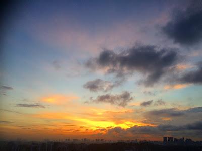 Sunrise in Singapore