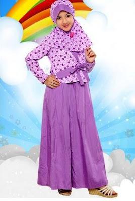 contoh baju muslim model terbaru anak perempuan usia 10 tahun