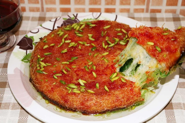 Delicious Arabic Sweet Kunafa Home Made Recipe