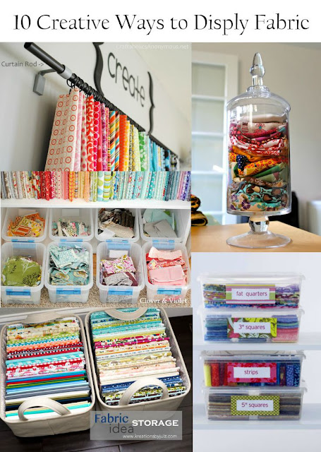 unique and creative ways to display and store fabric stash