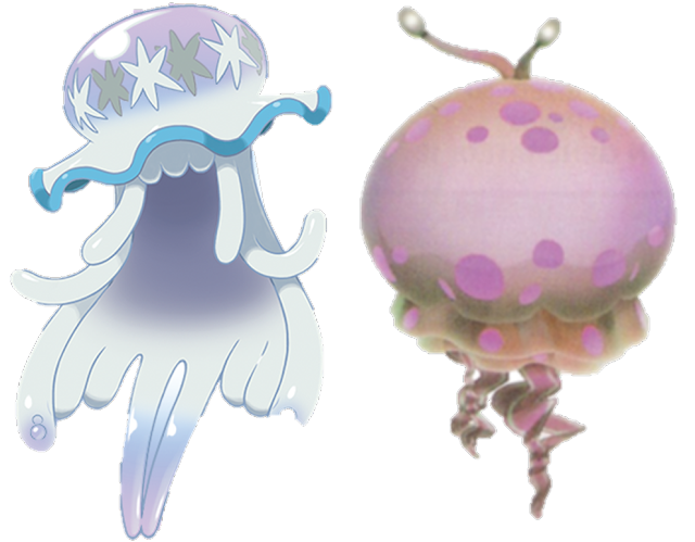 UB-01 Ultra Beast Nihilego Greater Spotted Jellyfloat Pikmin 2 Pokémon Sun Moon jellyfish alien