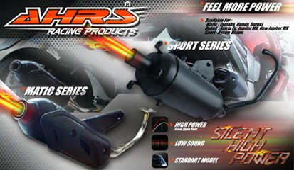 Brosur Daftar Harga Knalpot AHRS Racing Terbaru 2014