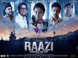 Download Raazi (2018) Hindi Movie Bluray