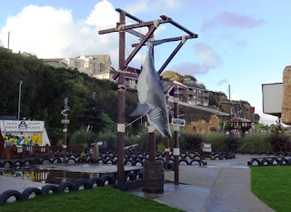 We also spotted a Shark at the amusement park next to the minigolf courses on Shanklin Seafront
