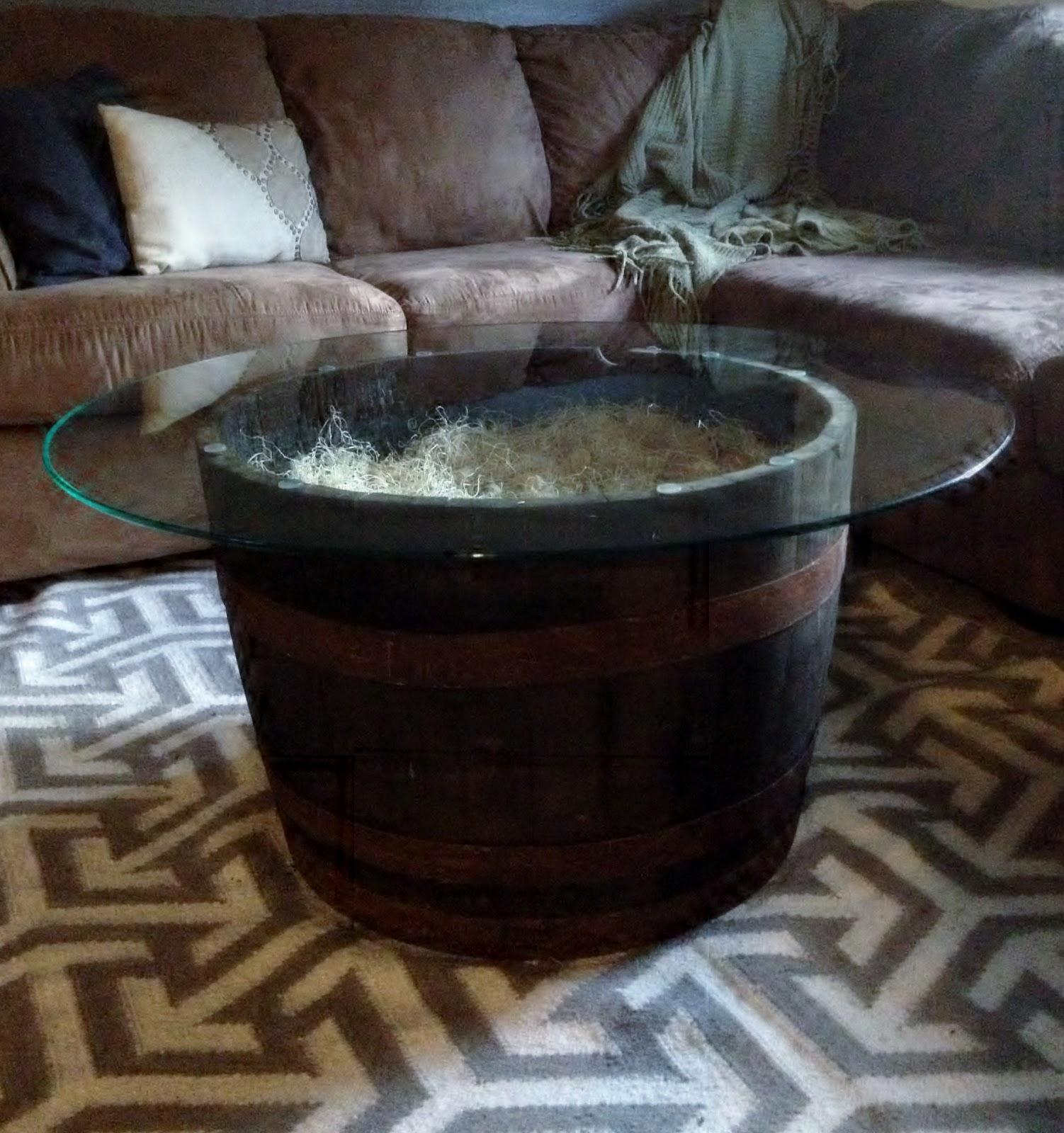 La Via Della Felicita: Whiskey Barrel Coffee Table