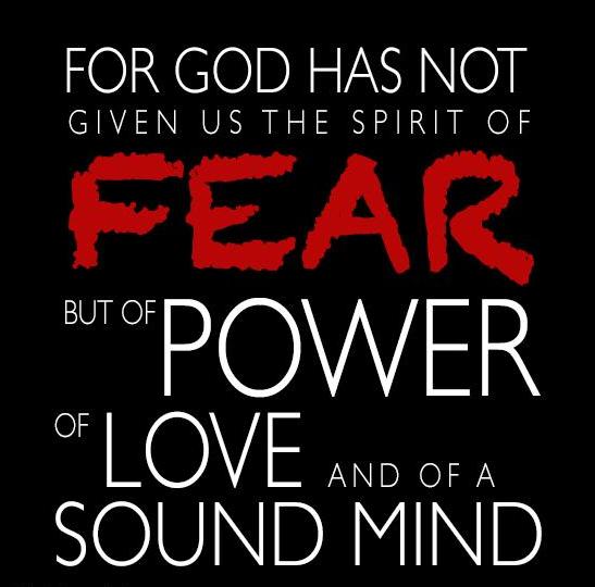 SPIRIT OF FEAR 2 TIMOTHY 17