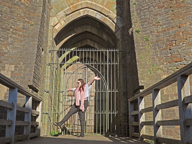 What to do in South Wales Caerphilly Castle Plus size travel blogger