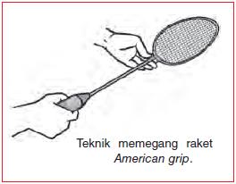 Bagaimana Cara Memegang Raket Bulutangkis Dengan Cara American Grip
