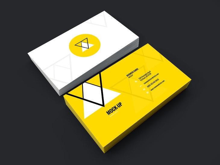 Business Card Design PSD Mockup